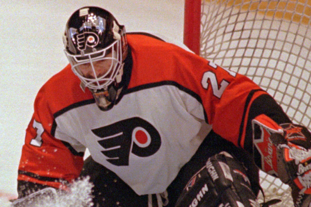 Goalie Ron Hextall was a big part of the Flyers success in the 1980s.<br />