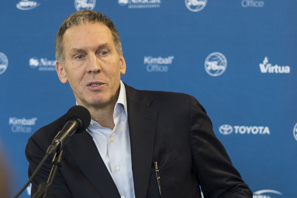 76ers president of basketball operations Bryan Colangelo.