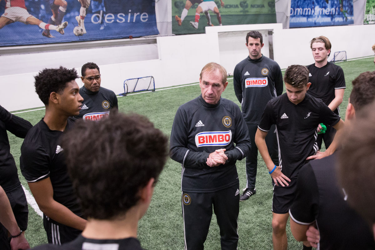Coaches from local youth soccer powerhouse Continental FC work with the Union's academy at YSC Sports in Wayne, as part of a broad relationship that helps both clubs develop young players.