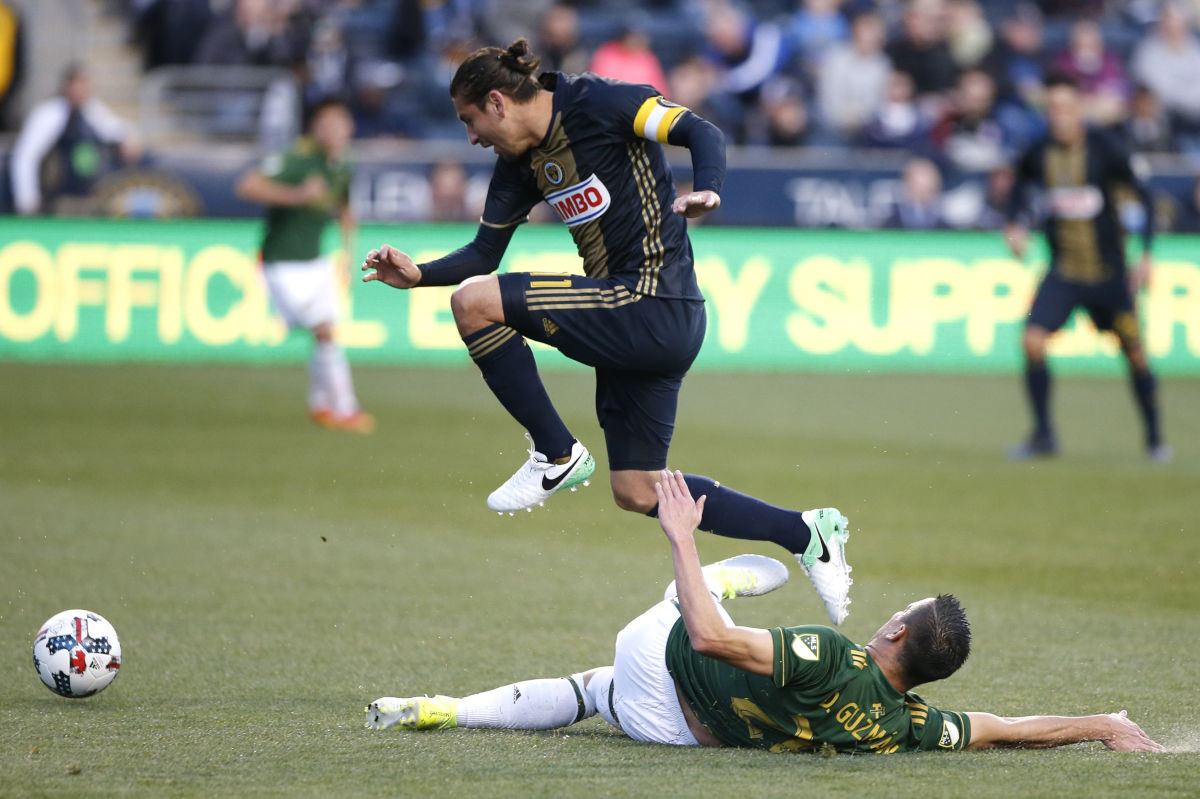 Union captain Alejandro Bedoya has played much better after moving to a deeper role in central midfield.