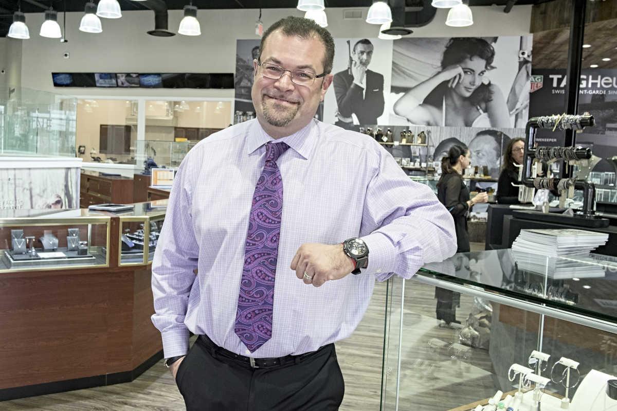 Jim Brusilovsky on Marks Jewelers millennial friendly sales floor. ED HILLE / Staff Photographer