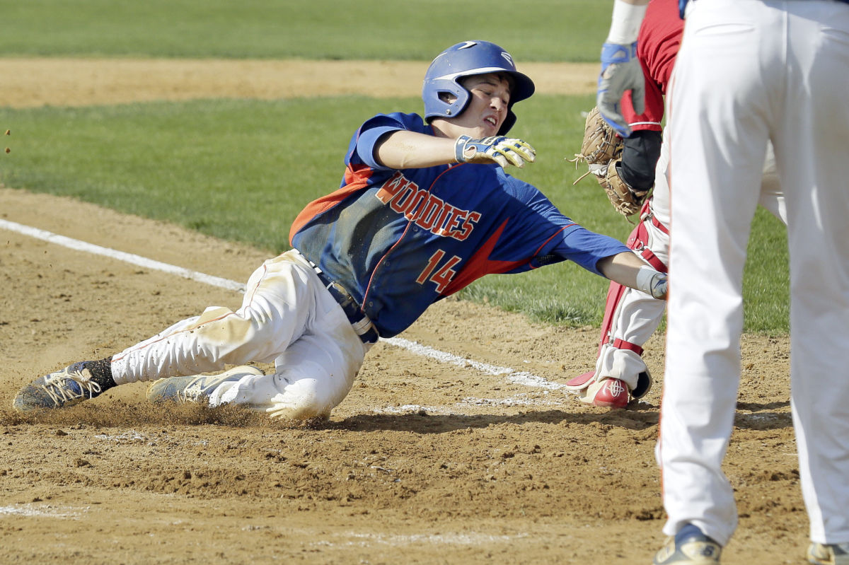 Woodstown´s Cody Wolf scores to put Woodstown ahead 5-1 in the fourth of his team´s road win at Delsea on Friday.