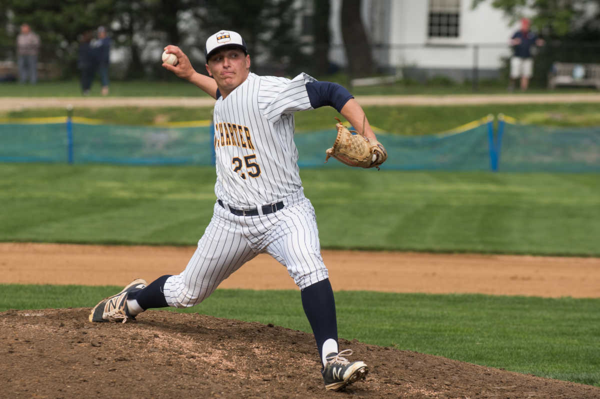 Joey Lancellotti pitched in Penn Charter´s 1-0 win against Malvern Prep at Penn Charter High School on Friday afternoon.