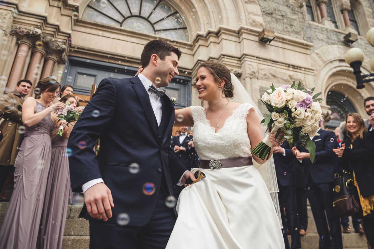 Jenna Trosko and Patrick Higgins on their wedding day.