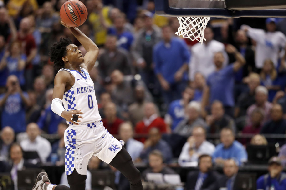 Kentucky&acute;s De&acute;Aaron Fox, a quick guard who can score, is the type of player the Sixers need to draft.<br />