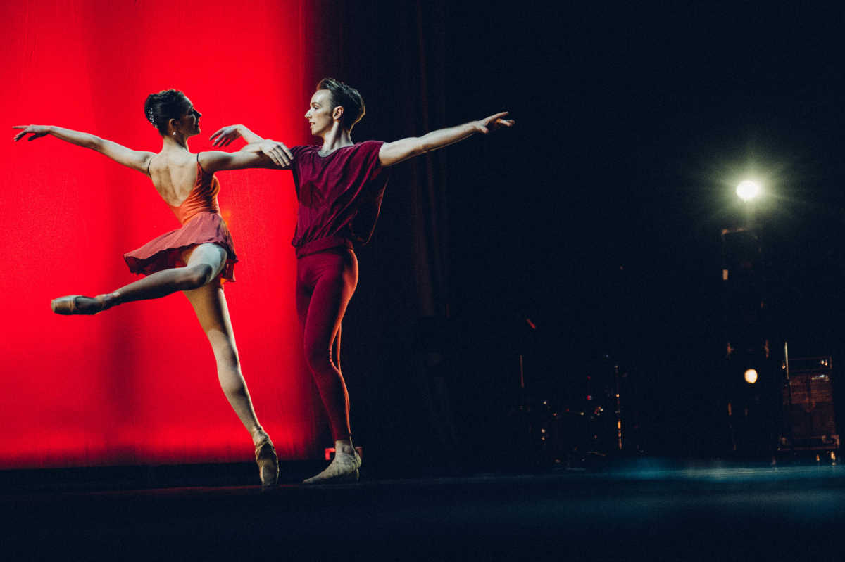 Pennsylvania Ballet dancers Marjorie Feiring and Michael Holden perform at Shut Up & Dance, a benefit for MANNA.