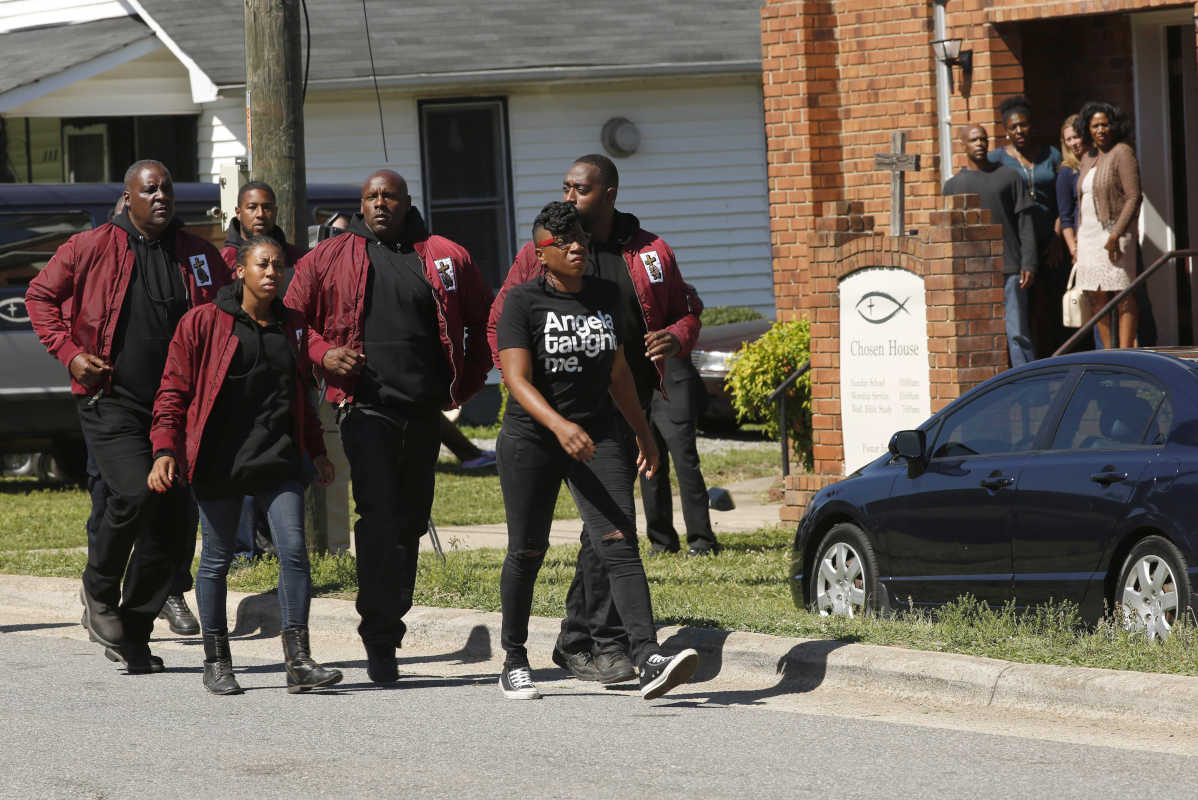 "SHOTS FIRED: Aisha Hinds (center) in the ""The Fire This Time"" episode of Fox's ""Shots Fired,"" which was directed by Jonathan Demme. The episode airs Wednesday, April 26 (8:00-9:00 PM ET/PT)"