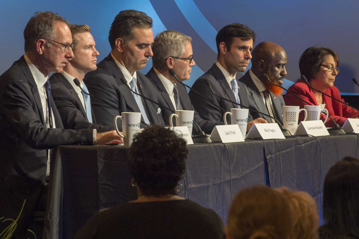The seven Democrats running for District Attorney appear in a debate Wednesday night sponsored by WHYY and the NAACP.