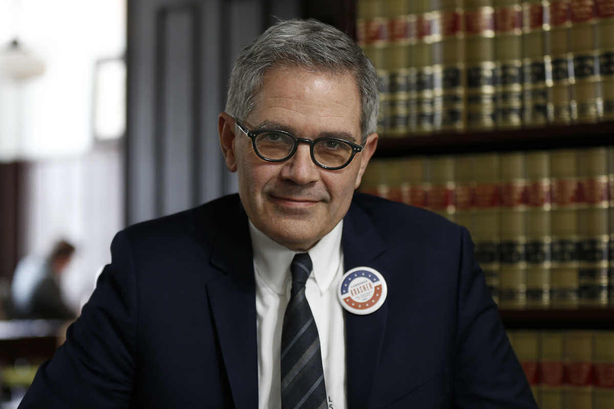 District Attorney candidate Larry Krasner pictured at his lawfirm in Philadelphia.