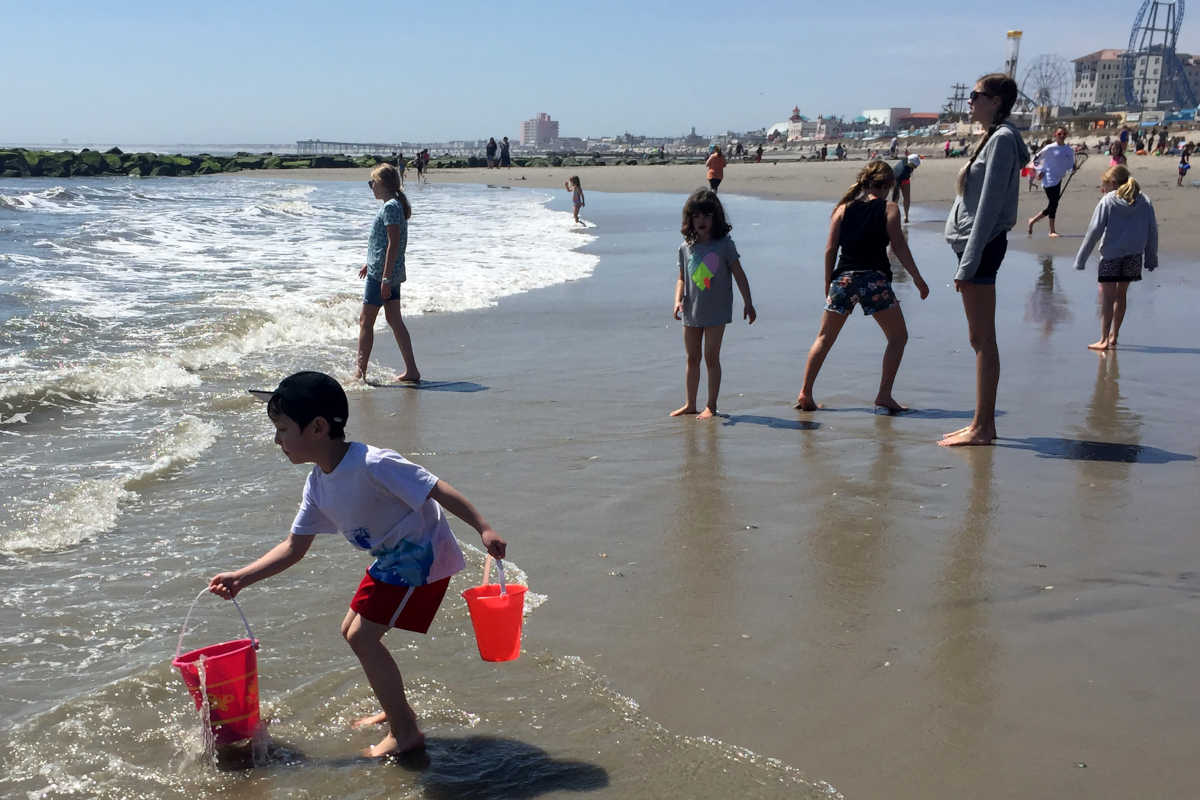 Jersey Shore visitors count on clean ocean water to ensure safe, family fun. Families were out earlier this month in Ocean City.
