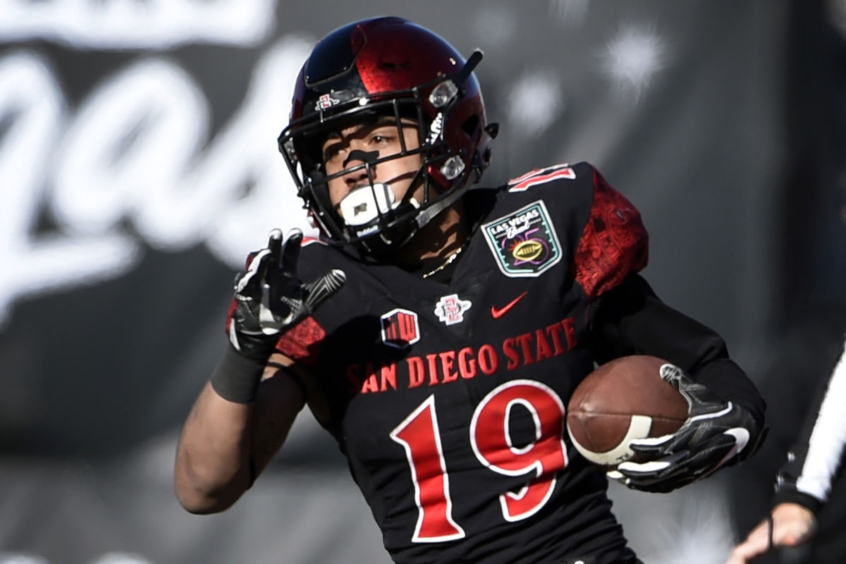 San Diego State running back Donnel Pumphrey was drafted by the Eagles in the fourth round. He&acute;s small at 5-foot-9 and 180 pounds.<br />