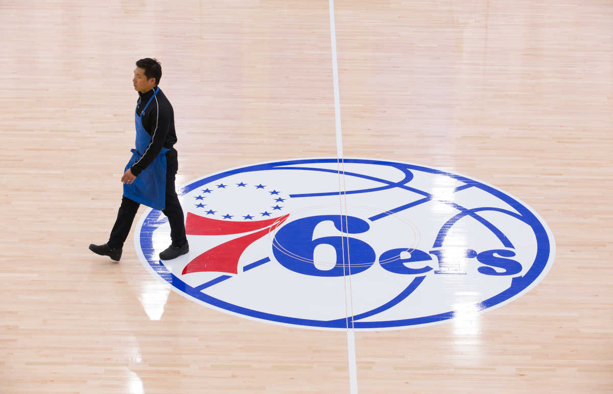 JaeHee Cho, Executive Chef of the 76ers, walks across the court at the training facility in Camden, New Jersey, Friday, May 5, 2017. ( JESSICA GRIFFIN / Staff Photographer)
