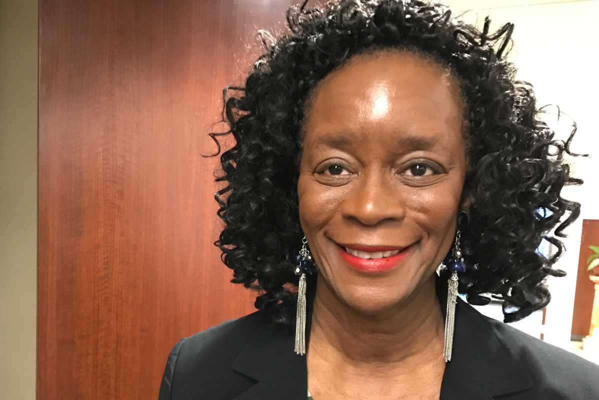 """Jean Kendrick attended a Philly Tech Week panel discussion title """"Robot City: Automation and Low-Wage Workers"""" on May 4. She is the director of career services at the Urban League of Philadelphia. Shot by Jane M. Von Bergen"""