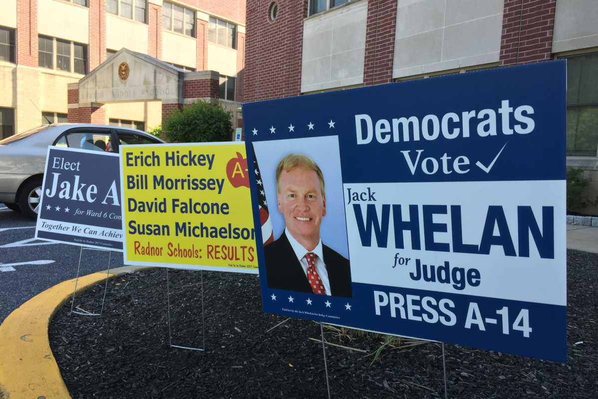 Delaware County Republican Jack Whelan ran in both parties' primaries by cross-filing in the Common Pleas race.