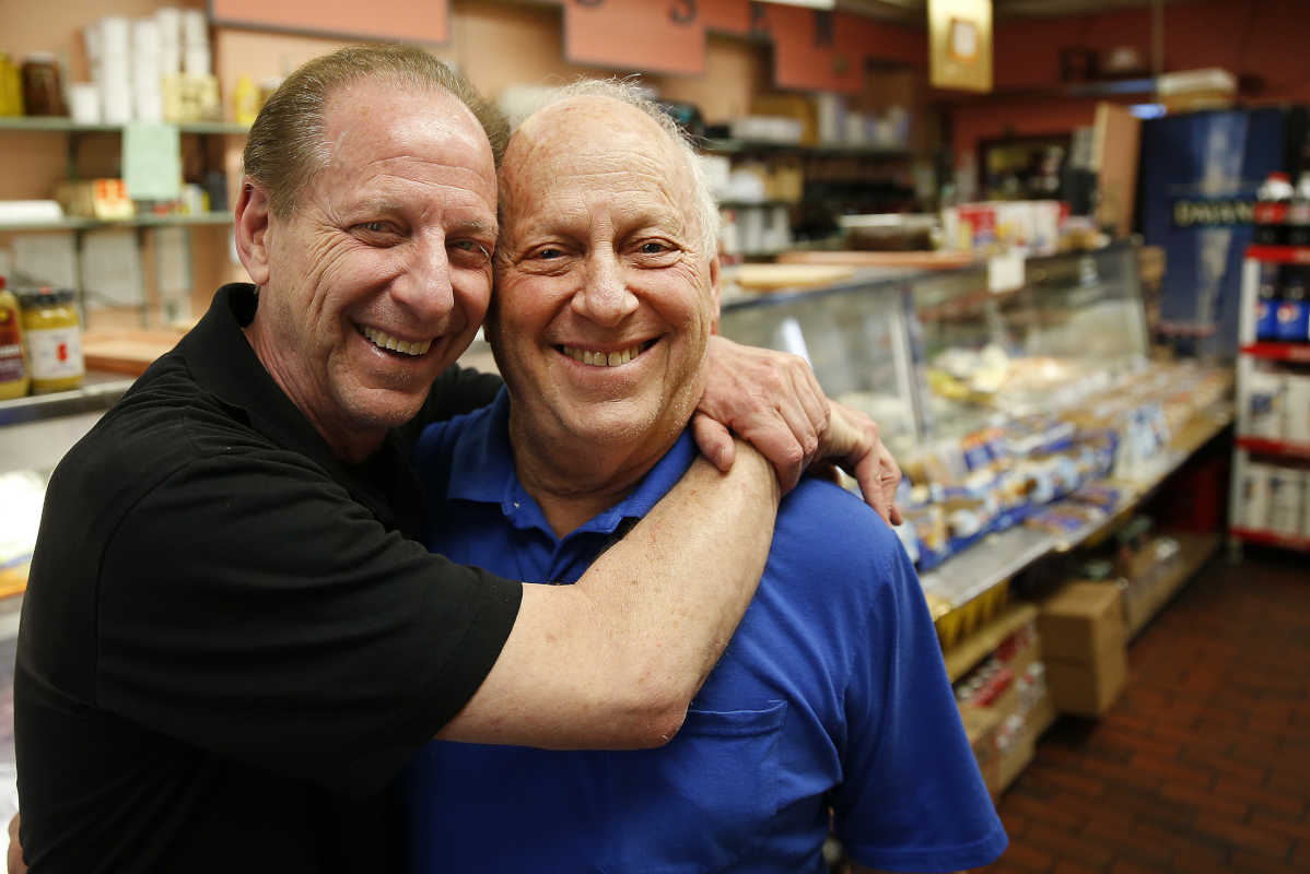 Brothers Alan (left) and Eddie Mutchnick are closing Jack´s Deli, 8502 Bustleton Ave., after 51 years.