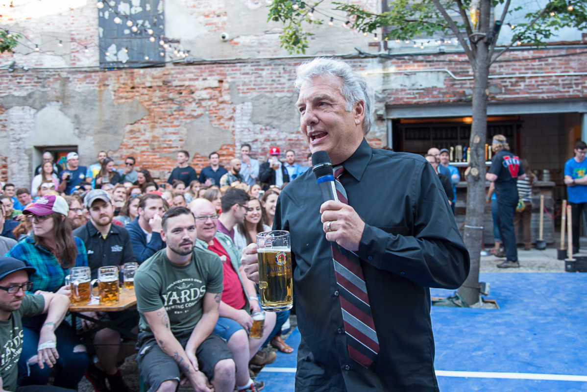 Marc Summers at Frankford Hall while leading Dunkel Dare in June 2016.