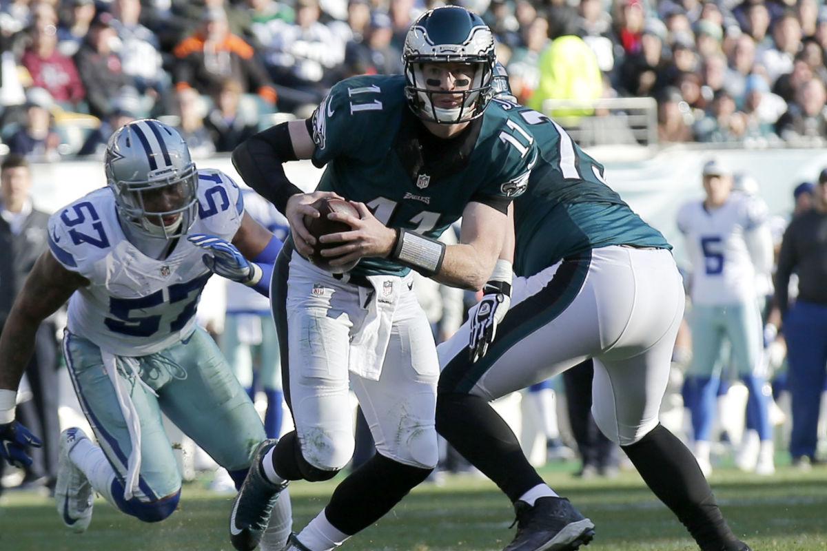 Eagles quarterback Carson Wentz is planning to scramble more next season.<br />