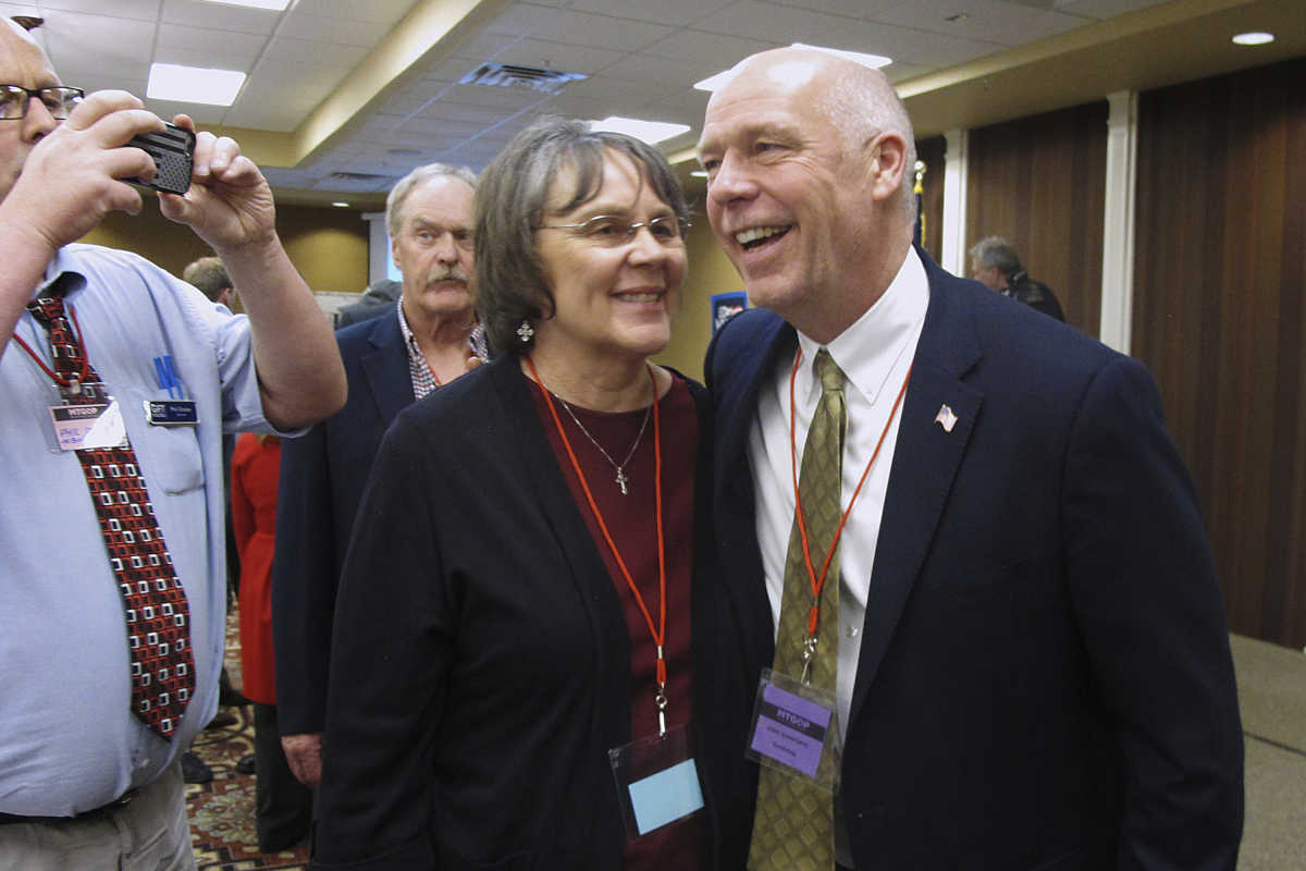 Greg Gianforte (right), a GOP candidate for Montana's lone House seat, was accused of body-slamming a reporter from the Guardian on Wednesday, a night before the election.