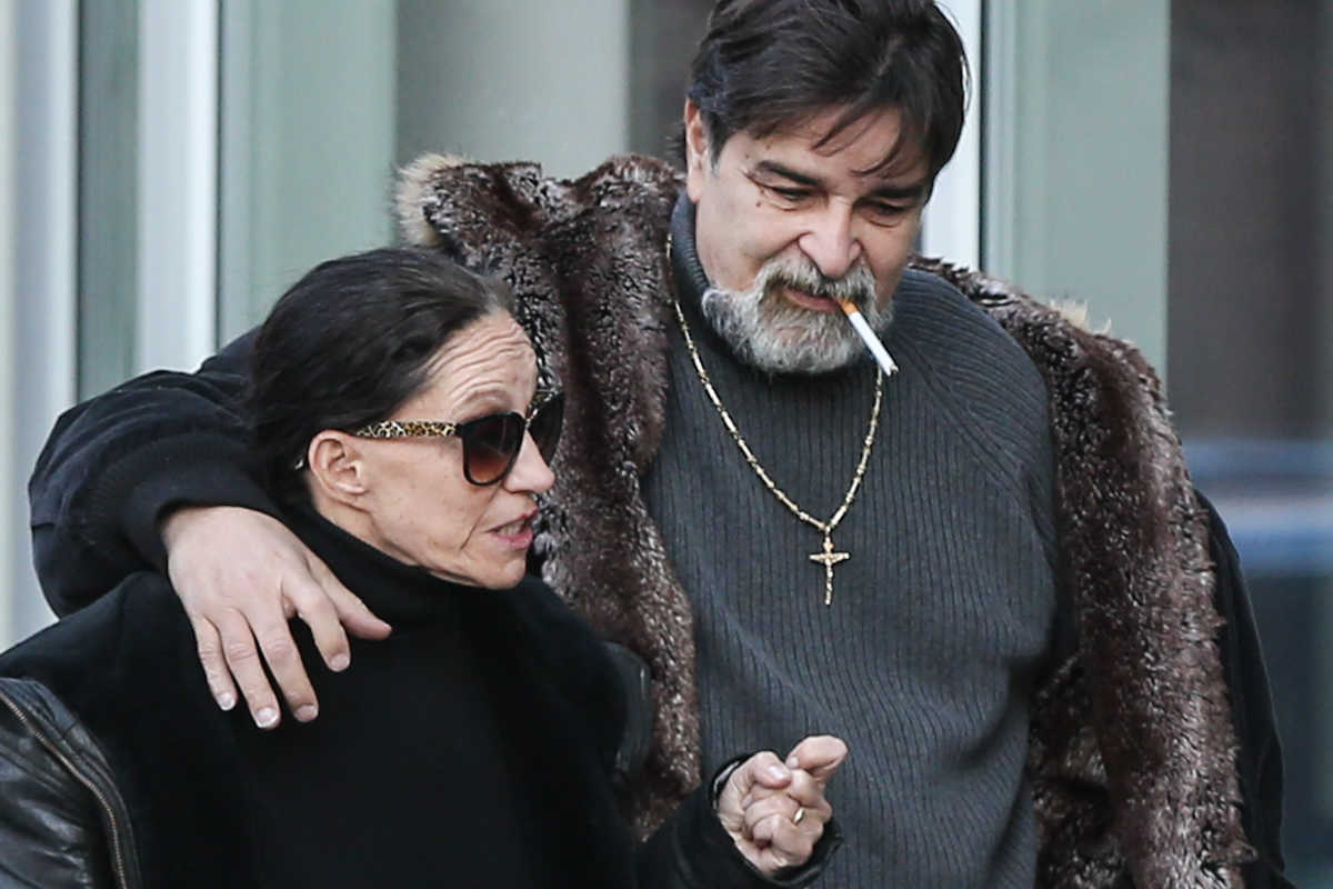 Renee Tartaglione leaving Federal Court with her husband, Carlos Matos.