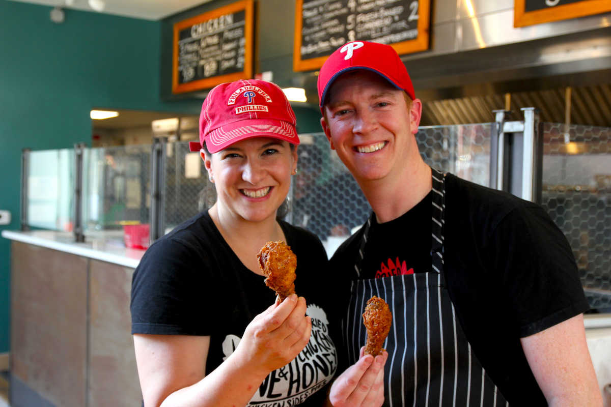 Laura and Todd Lyons at Love & Honey Fried Chicken, 1100 N. Front St.