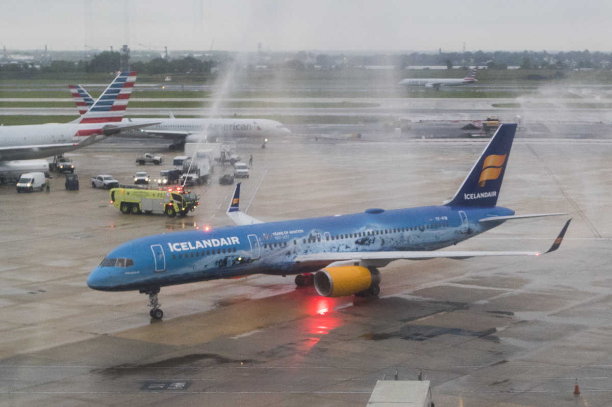 First Icelandair flight arrives at PHL - Philly  First Icelandai...
