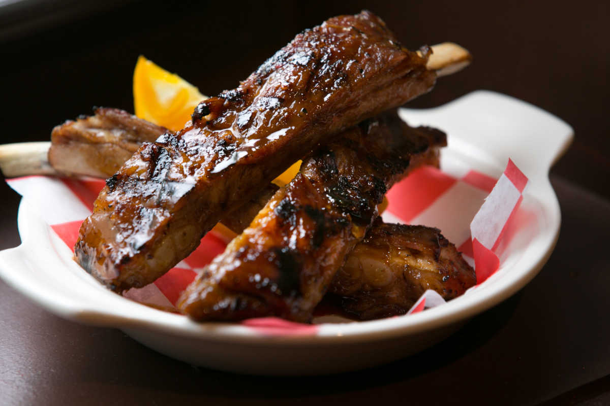 The Chinotto-braised ribs at the Palizzi Social Club.