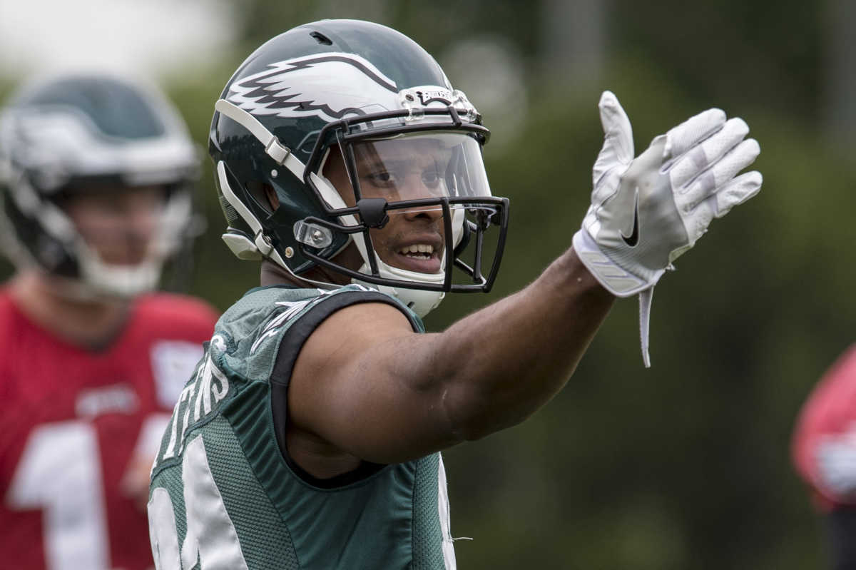 Eagles wide receiver Jordan Matthews did some work in OTAs, but has been sidelined during this week's minicamp.