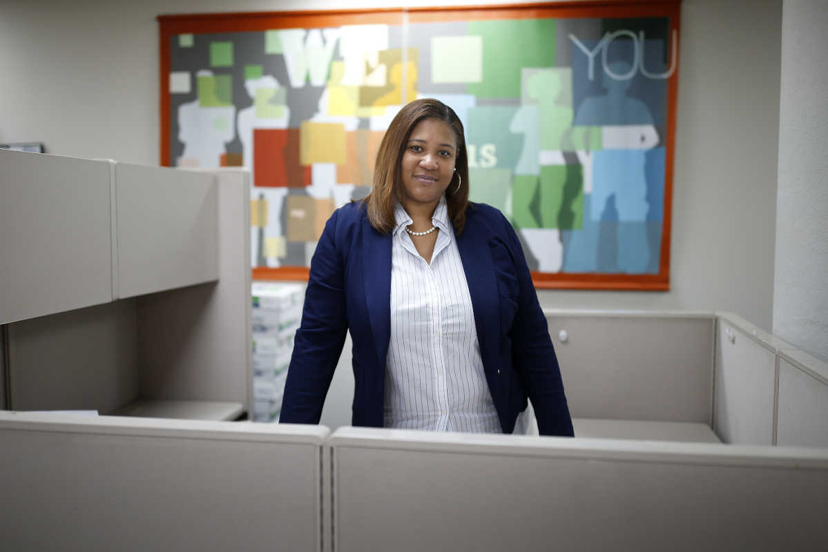 Ceciley Bradford-Jones, chief executive of RISE in her office.
