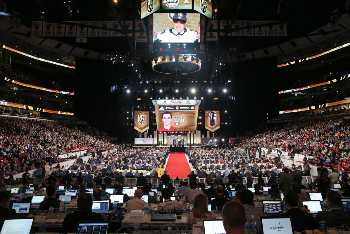 Inside the United Center in Chicago during the 2017 NHL Draft.