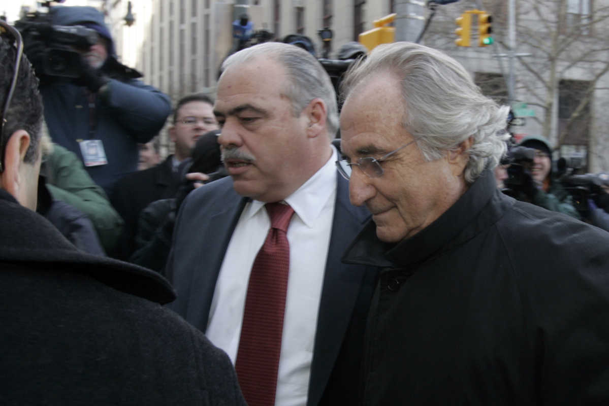 Bernard Madoff arrives at Federal Court for a scheduled hearing Wednesday, Jan. 14, 2009 in New York.