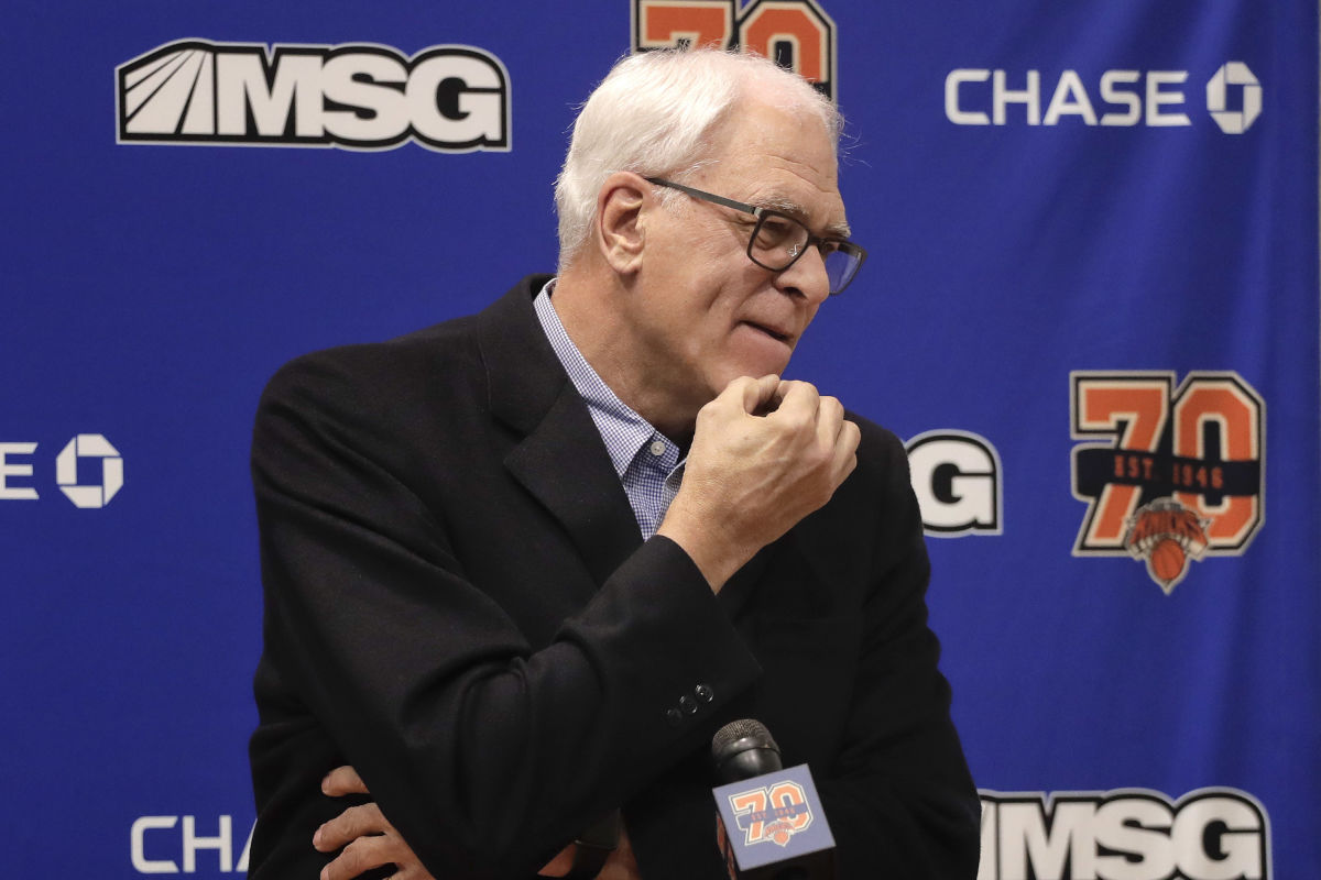 Days after Phil Jackson reiterated his desire to trade Carmelo Anthony and said he would listen to deals for Kristaps Porzingis, the New York Knicks cut ties with Jackson.