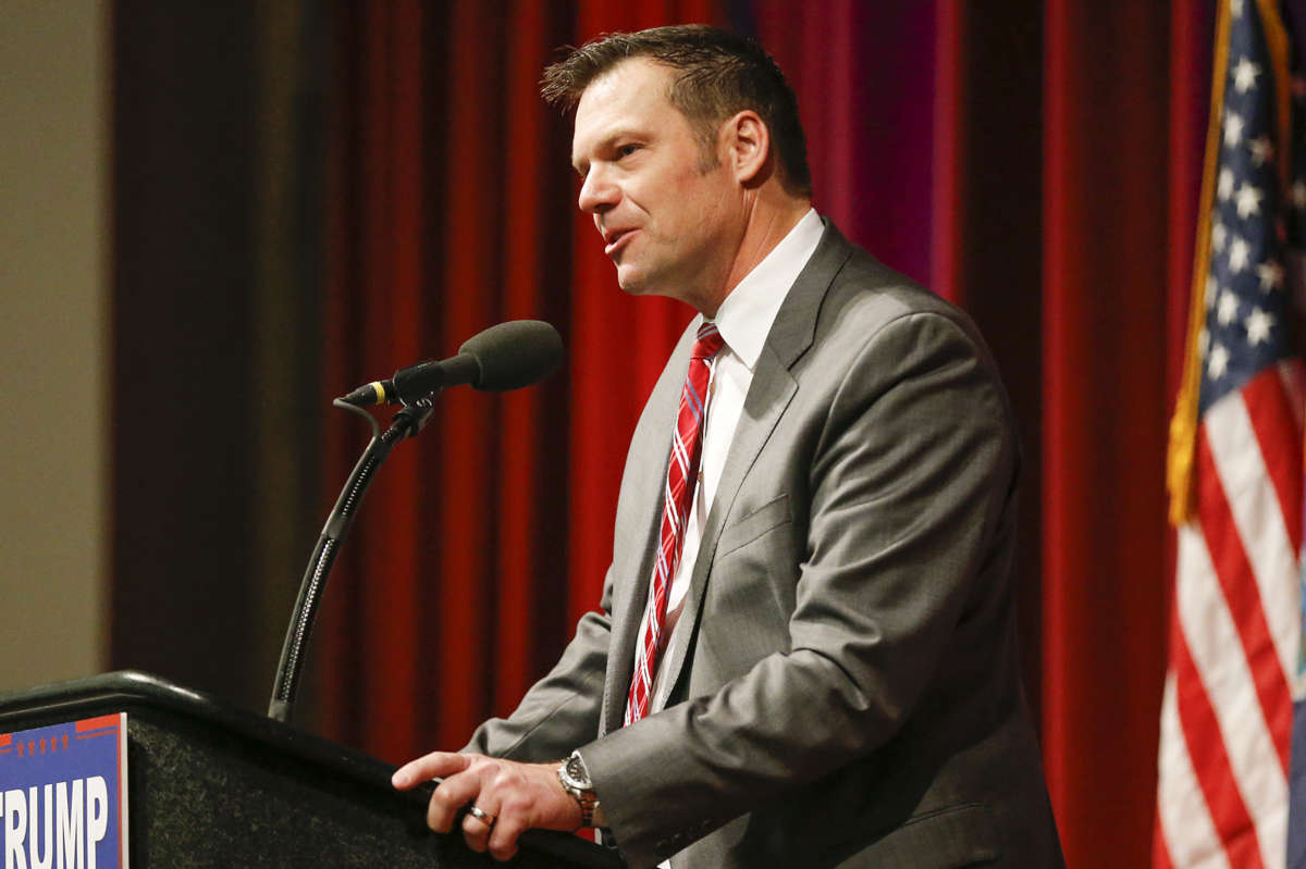 Kansas Secretary of State Kris Kobach is vice chair of President Trump's Advisory Commission on Election Integrity.