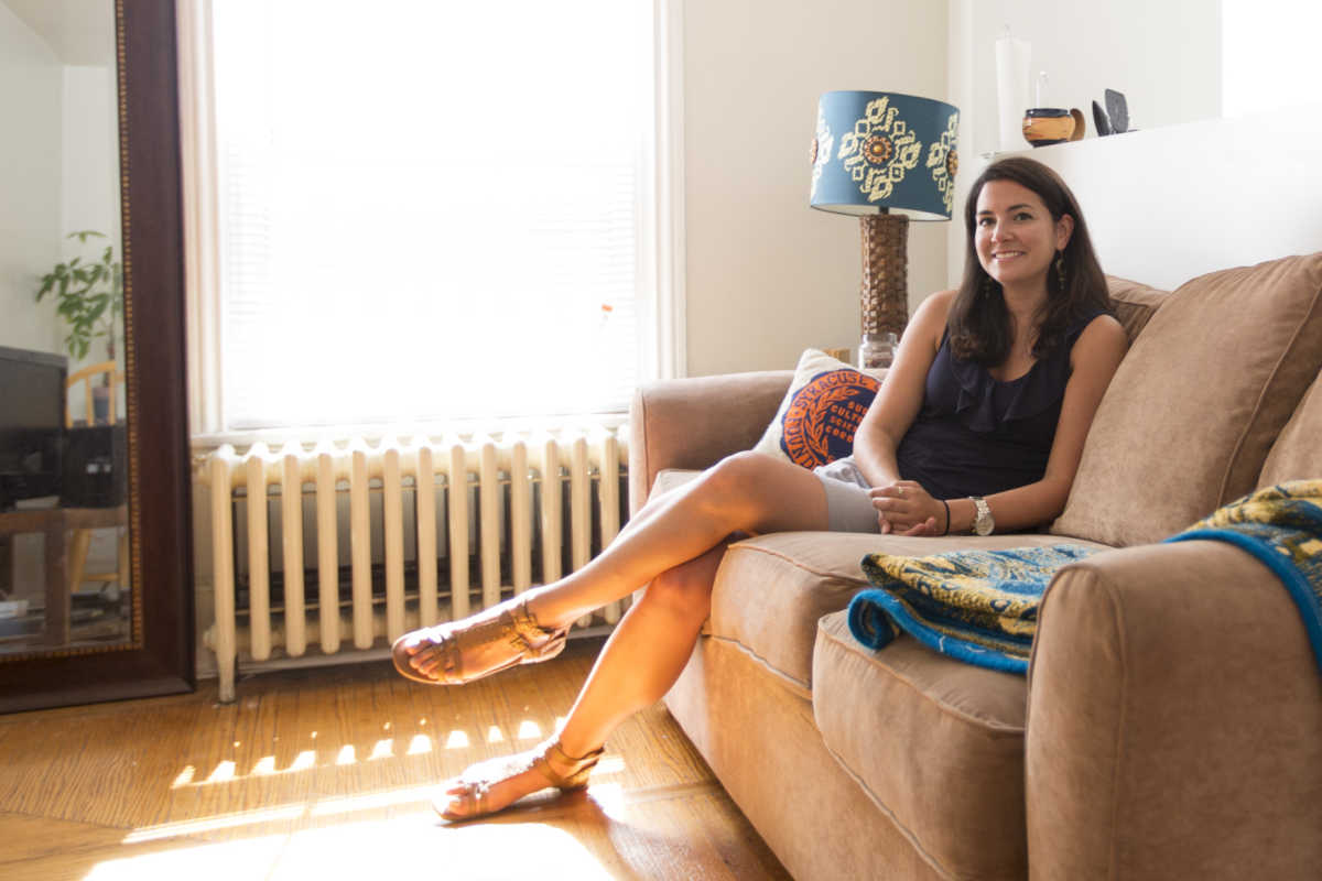 Julia Terruso in her new apartment.