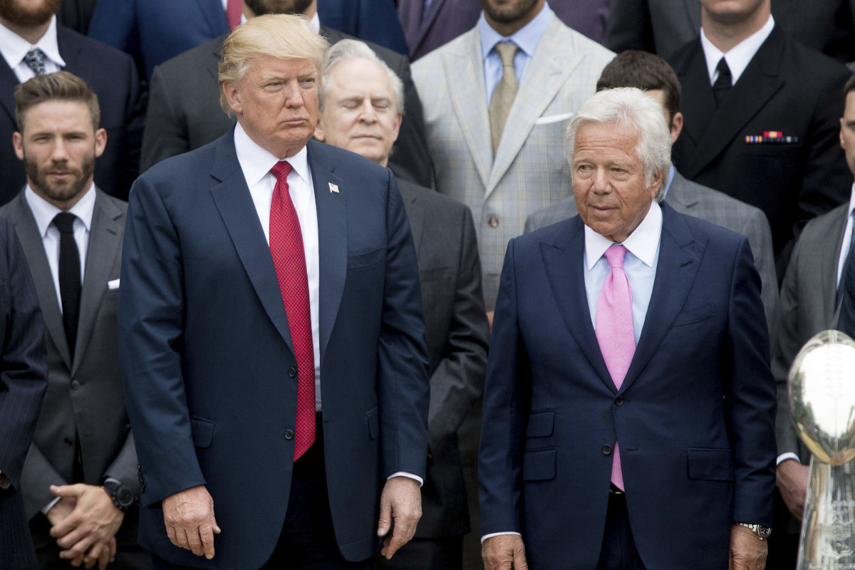 """New England Patriots owner Robert Kraft, who has been a strong backer of the president, expressed """"deep disappointment"""" with Donald Trump's criticism of NFL players who protest during the national anthem."""