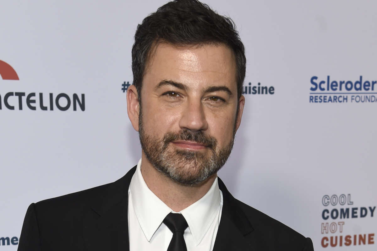 Jimmy Kimmel returned to his show Monday night after his son's heart surgery.