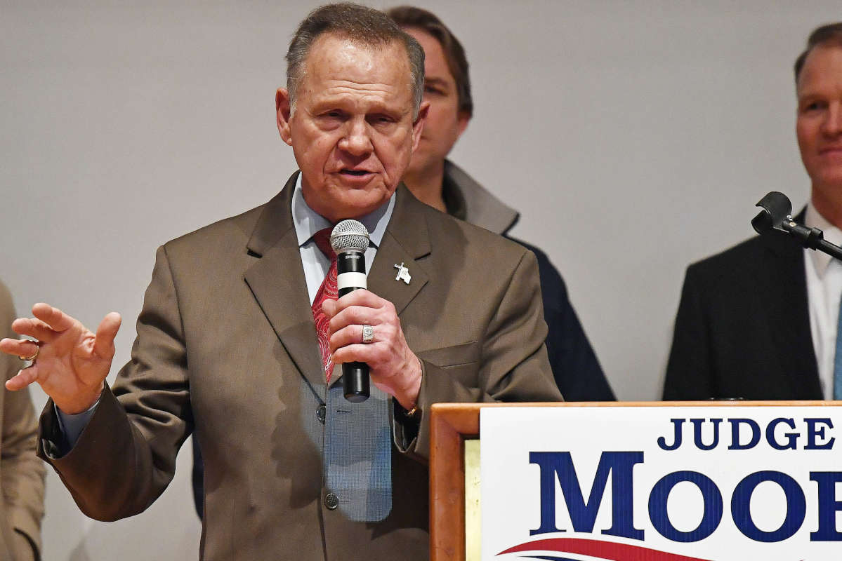 Republican Roy Moore refused to concede the Alabama special Senate election to Doug Jones on Tuesday night.