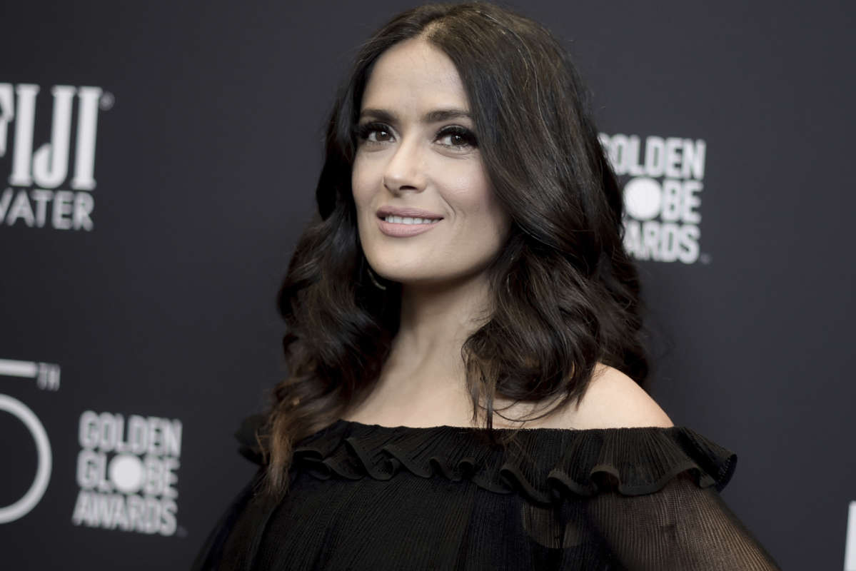 "Actress Salma Hayek says disgraced producer Harvey Weinstein would turn up at her door ""at all hours of the night, hotel after hotel, location after location."""