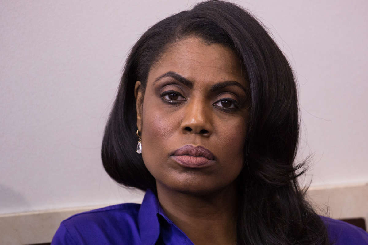 Omarosa Manigault Newman had to be escorted off the White House grounds. (Cheriss May/NurPhoto/Sipa USA/TNS)