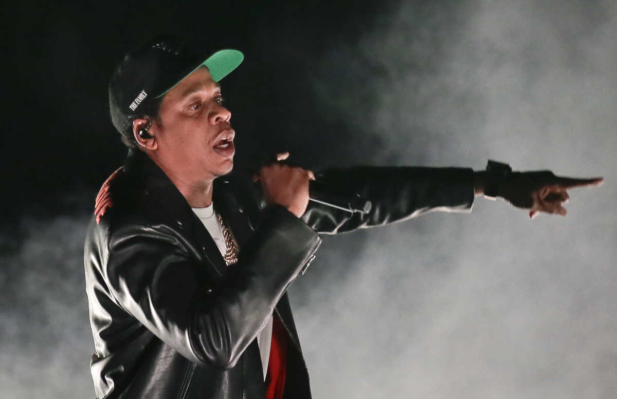 Jay-Z performs at the Wells Fargo Center in Phila. on December 1, 2017.  ELIZABETH ROBERTSON / Staff Photographer