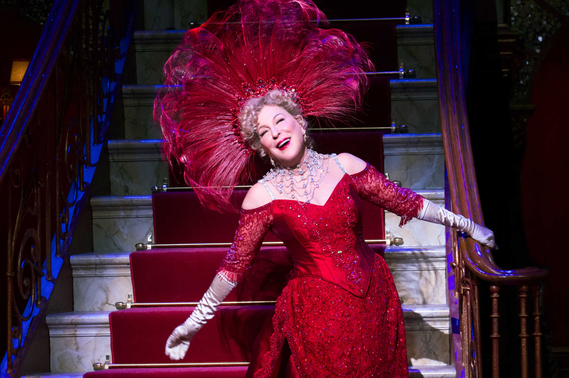 "Bette Midler in ""Hello, Dolly!"" at the Shubert Theater in New York City."