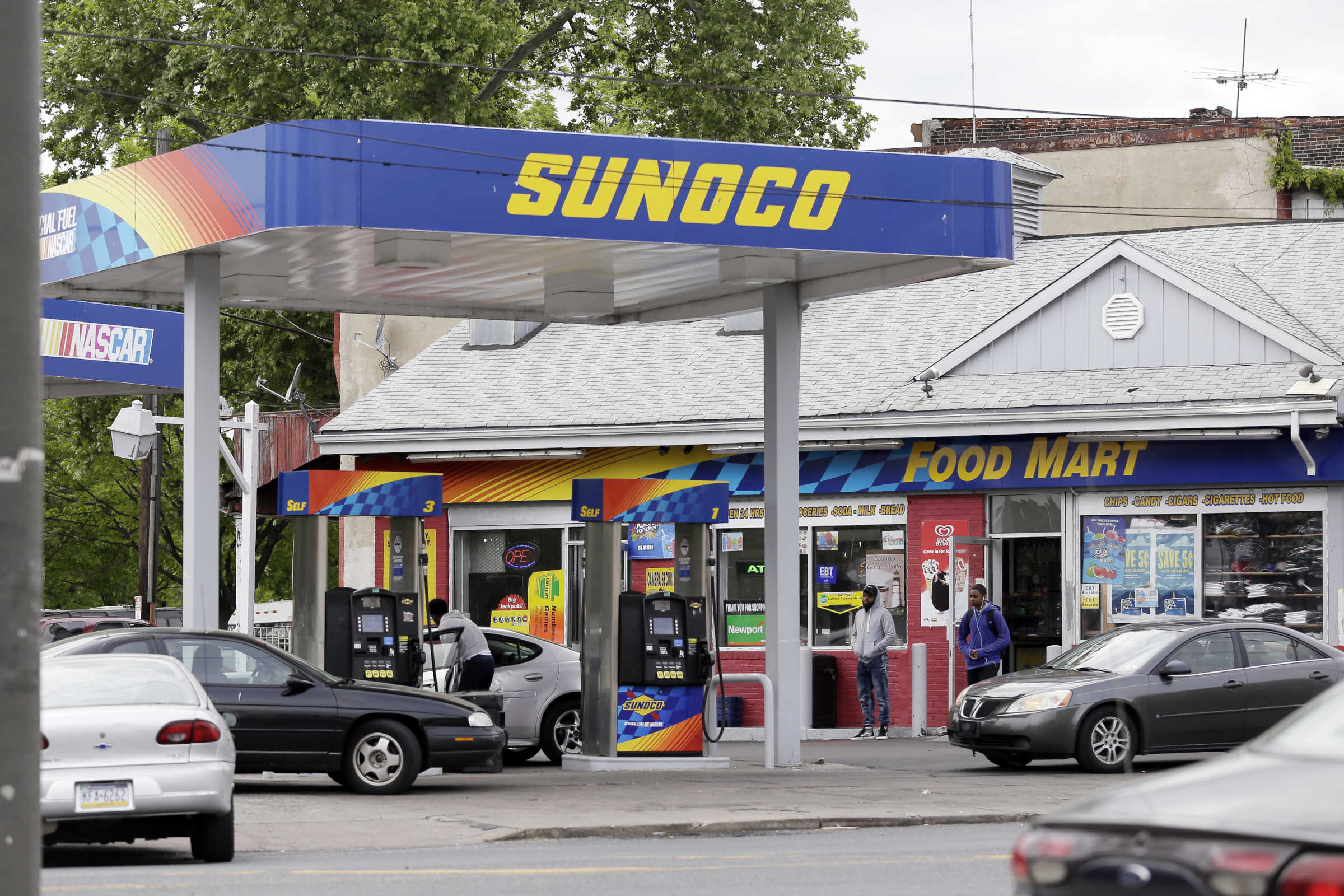 The Sunoco gas station at 33rd and York Streets in Philadelphia.