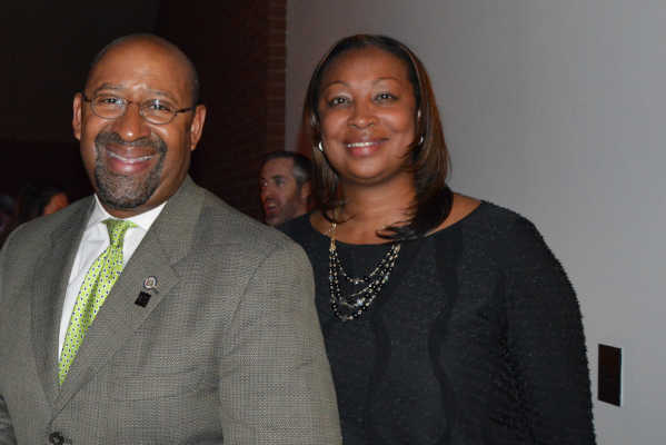 Former Mayor Michael Nutter and former City Representative Desiree Peterkin Bell.