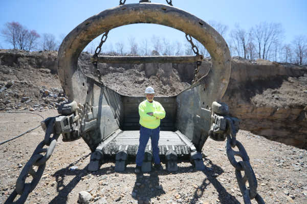 J. Greg Driscoll, President and CEO of Blaschak Coal Corp., at the Primrose site where a drag line Marion 7450 splits the mammoth vein, Tuesday April 18, 2017.