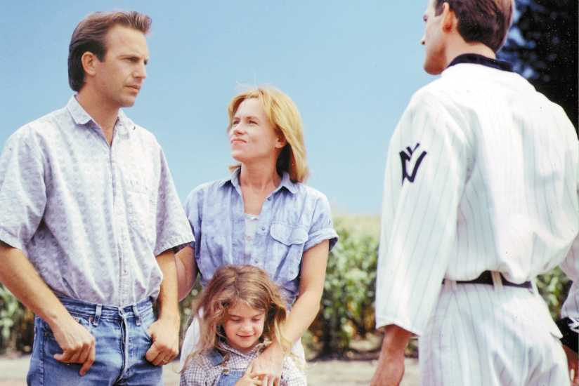 "The 1989 movie ""Field of Dreams"" starred (from left) Kevin Costner, Amy Madigan, Gaby Hoffmann and Dwier Brown. Fans still visit the Iowa site where it was filmed."