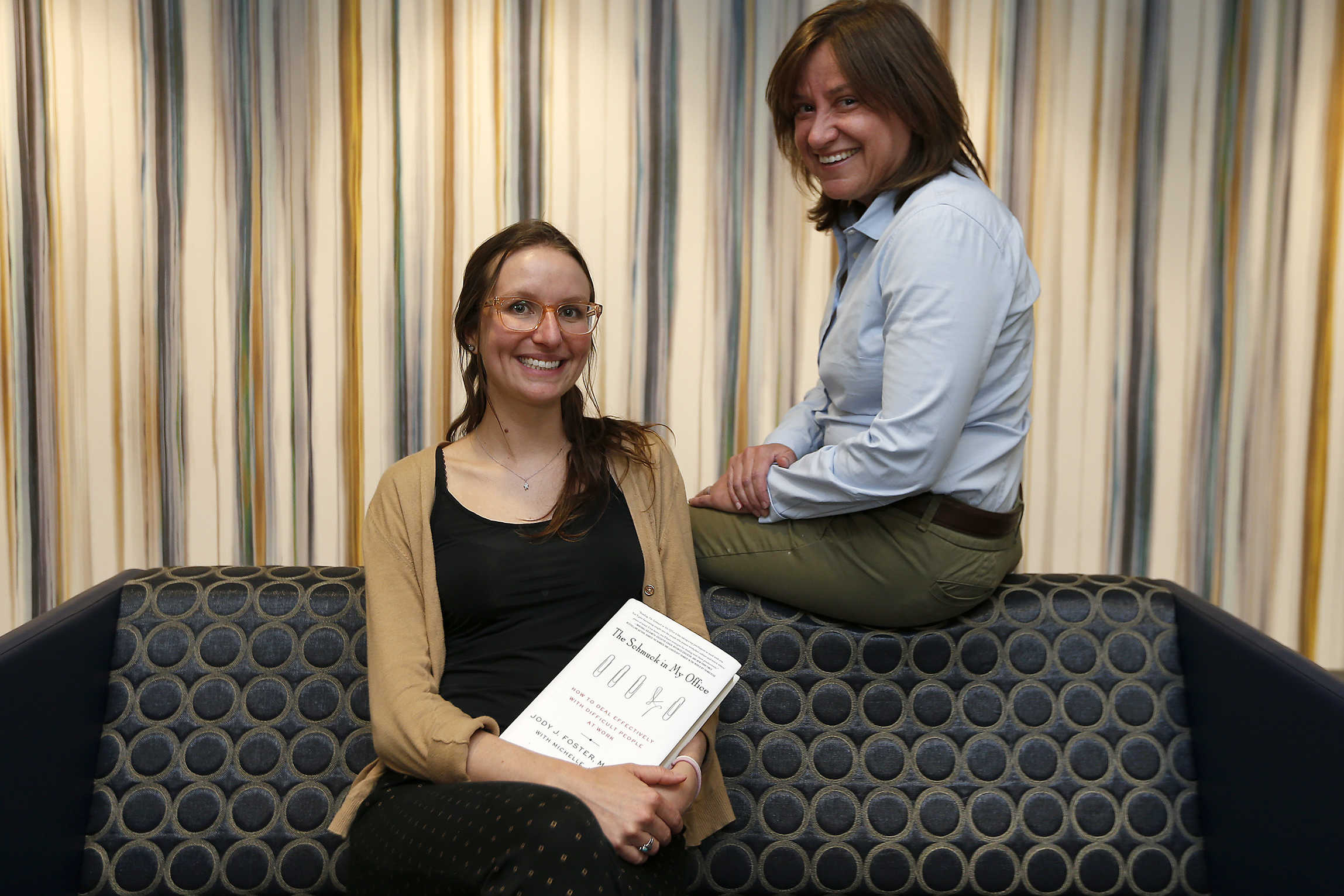 "Penn psychiatrists Michelle Joy, left, and Jody Foster, right, have written the book ""The Schmuck in My Office: How to Deal Effectively with Difficult People at Work."""