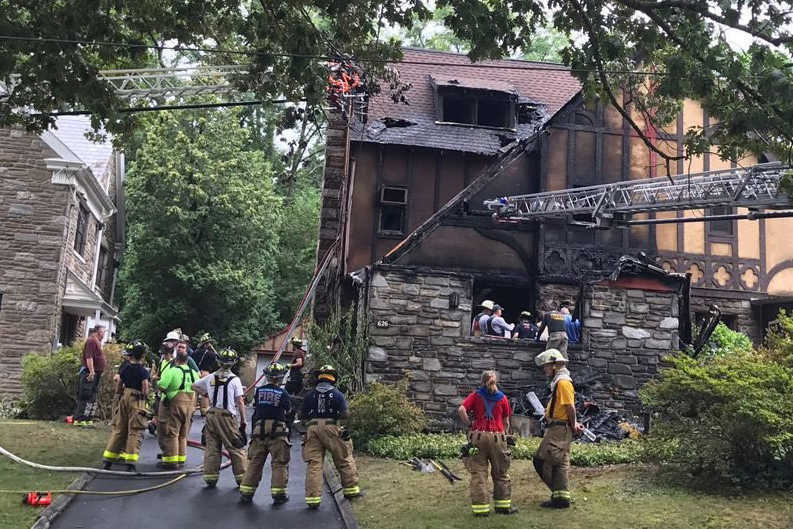 A fire in Elkins Park on Sunday morning killed a couple in their late 90s, authorities say.