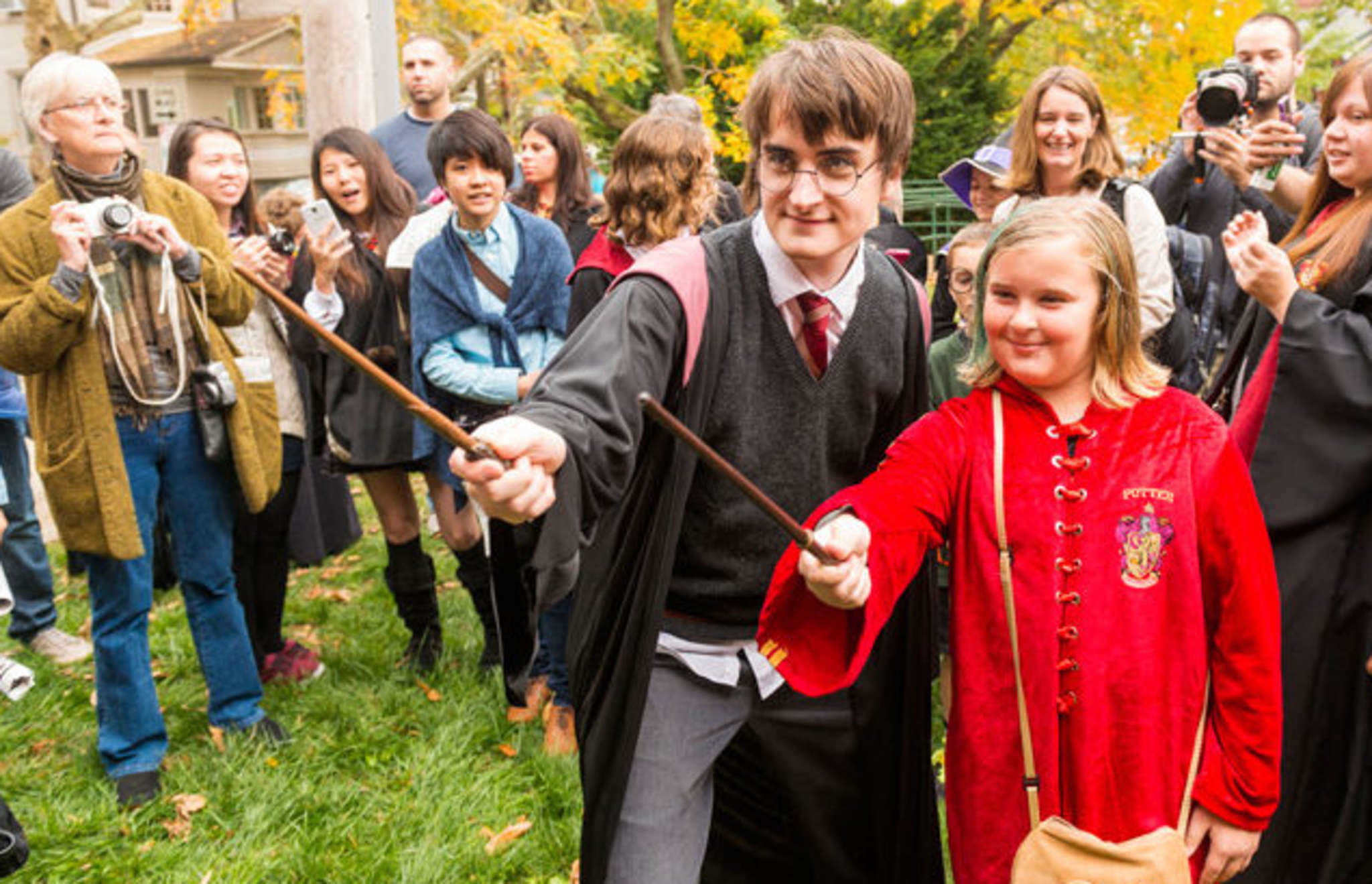 On Friday and Saturday, Chestnut Hill will transform into Hogsmeade, the famed magical town of shops from J.K. Rowling's best-selling series