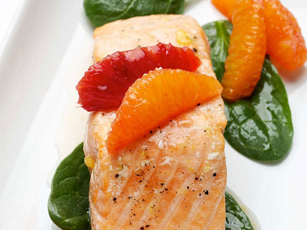 Salmon in Orange Sauce. (The Washington Post/Deb Lindsey)
