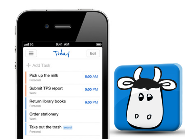 """Remember The Milk"" app."