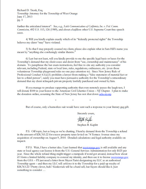 This is the best response to a ceaseanddesist letter youll ever see – Cease and Desist Sample Letter